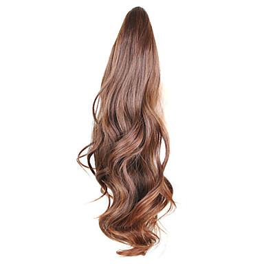 18 inç Uzun Sentetik Saç Ek saç Dalgalı Saç örgü 1pc Other Parti / Gece Günlük Yüksek kalite Kadın's Sentetik Genişlemeler Gerçek Saç
