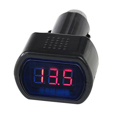 12V/24V Digital LED Auto Car/Truck Voltmeter Gauge