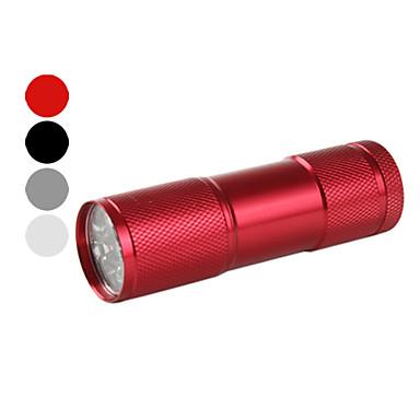 portable 1-Modus 9-LED-Taschenlampe (50lm, 3xAAA, farbig sortiert)