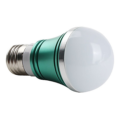 E26/E27 W 3 High Power LED 270 LM Green A Globe Bulbs AC 85-265 V
