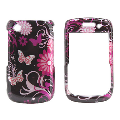 Fashional Butterfly Back Case and Bumper Frame for Blackberry 8520/9300 (Black)