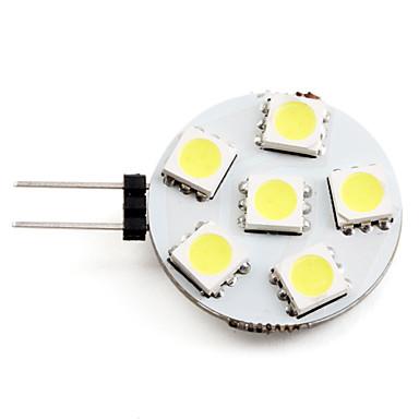 2W 2700 lm G4 Faretti LED 6 leds SMD 5050 Bianco DC 12V