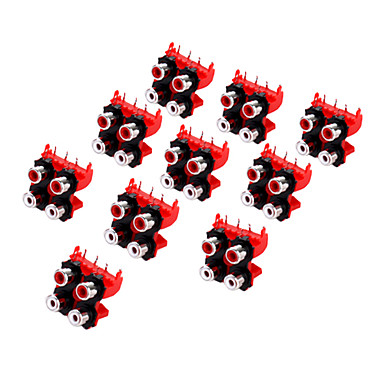 AV4-13 RCA Jack Socket for Electronics DIY Use (10 Pieces a Pack)