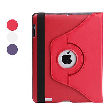 Etui Til iPad 4/3/2 Med stativ 360° Rotation Fuldt etui Helfarve PU Læder for iPad 4/3/2
