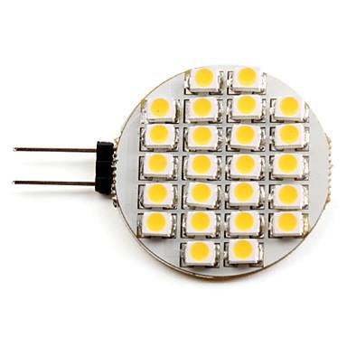 g4 led spotlight 24 smd 3528 50lm varm vit 2700k dc 12v