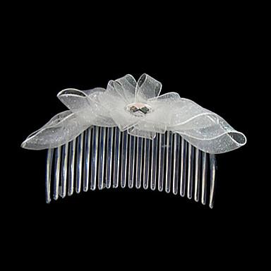 Kristal Kumaş Saten - Tiaras Saç Combs 1 Düğün Özel Anlar Parti / Gece Günlük Dış mekan Başlık