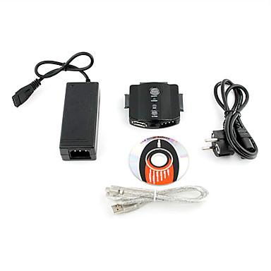 USB 2.0 & eSATA zu SATA 3 x 2,5 3,5 HD-HDD-Adapter-Konverter