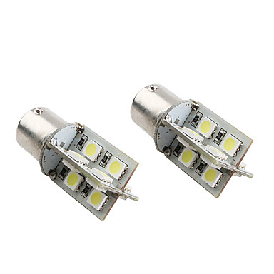 1156 16 * 5050 SMD weiße LED canbus Auto Signalleuchten (2-Pack, DC 12V)