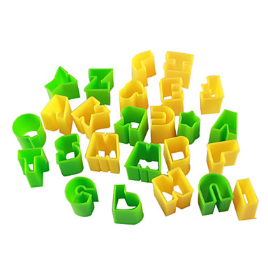 Letter Pattern Cake and Cookie Cutter Mold (26 Pieces)