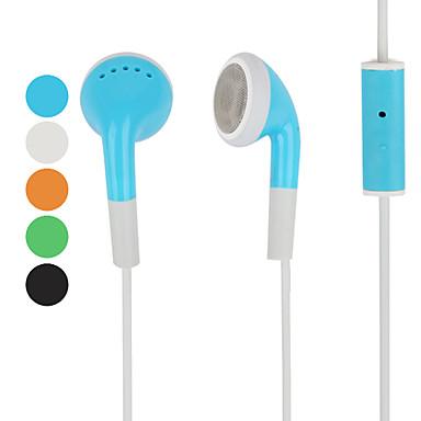 casque stéréo avec microphone pour iphone et autre mobile (couleurs assorties)