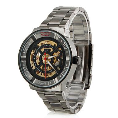 hombres aleación informal estilo analógico reloj de pulsera mecánico (negro)