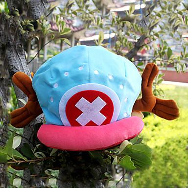 Şapka/Başlık Esinlenen One Piece Tony Tony Chopper Anime Cosplay Aksesuarları Kapak / Şapka Mavi / Pembe Kadife Erkek