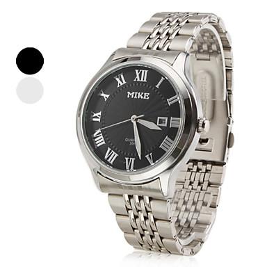 Men's Calendar Style Alloy Analog Quartz Wrist Watch (Silver)