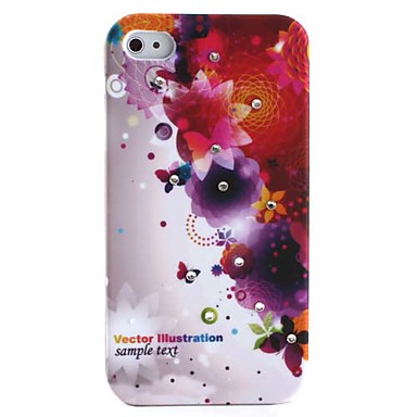 Butterflies Pattern Ultra Thin Hard Case for iPhone 4 and 4S
