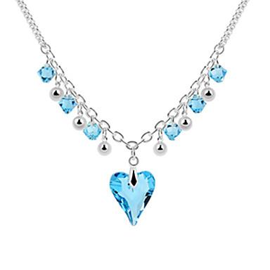 Legierung und Kristall Liebe durch Design Platin Halskette