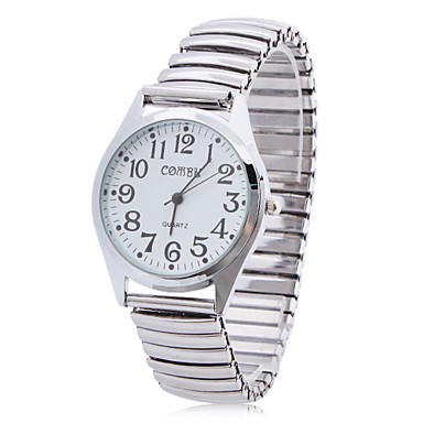 Masculino Relógio Elegante Quartz Banda Prata marca-