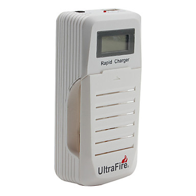UltraFire WF-200 2x18650 Battery Charger with USB Output Slot and LCD Display