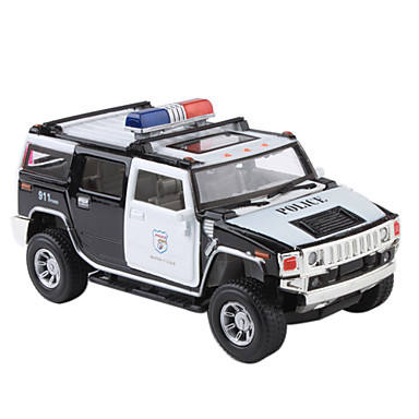 NO815 1:32 Pull-Back Action Metal Police Jeep Car Model with Light and Sound Effect