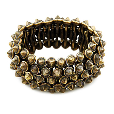 Retro Style Exaggerated Rivet Stretch Bracelet