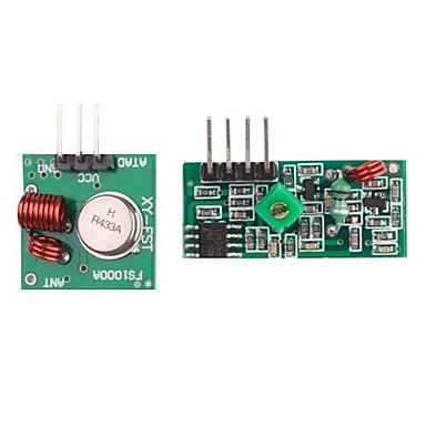 433M Superregeneration Wireless Transmitter Module (Burglar Alarm) and Receiver Module