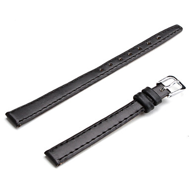Unisex PU Leather Watch Strap 10MM(Black)