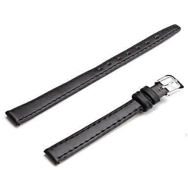unisex correa de reloj de cuero de la PU de 10 mm (negro)