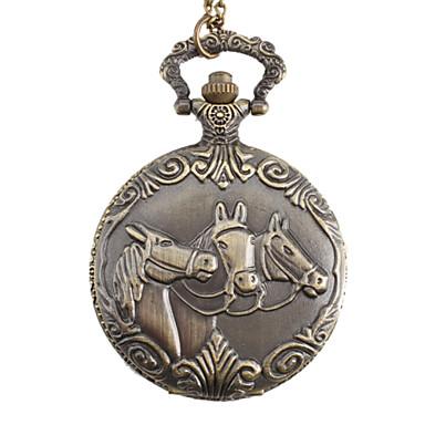 Masculino Relógio de Bolso Quartzo Lega Banda Vintage Bronze