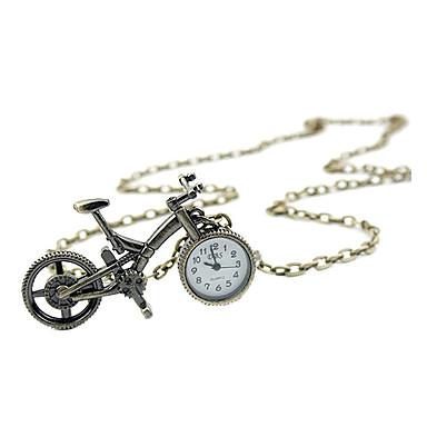 빈티지 자전거 회중 시계 목걸이