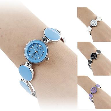 Women's  Circle Style Alloy Analog Quartz Bracelet Watch (Assorted Colors)