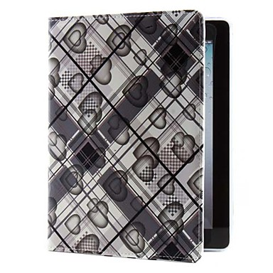 Heart-shaped Pattern PU Leather Case with Stand for iPad 2/3/4 (Assorted Colors)