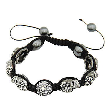Skull Crystal Ball Rope Bracelet