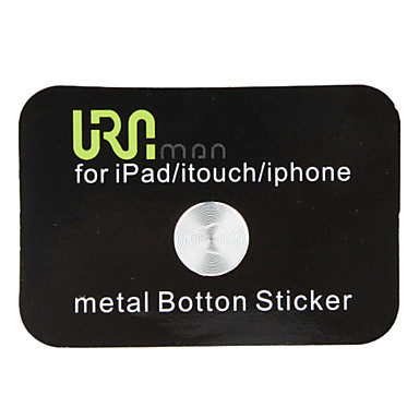 Home Button Sticker for iPhone, iPad and iTouch (Silver)