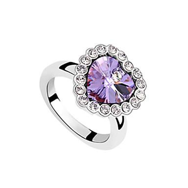 Big Heart Shaped Crystal moda anillo
