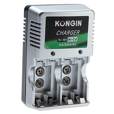 Kongin Ladegerät für Ni-Mh Ni-CD AA AAA 9V Batterie
