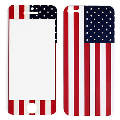 EUA Frente padrão de bandeira e adesivos Protector Voltar para o iPhone 5