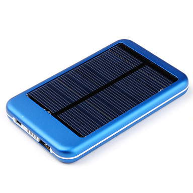 Solar 5000mAh External Battery Power Bank for iPhone4S/5/5S/iPad/SamsungS3/S4/S5/Mobile Devices