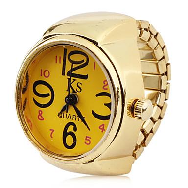 Жен. Часы-кольцо Японский Кварцевый Золотистый Повседневные часы Аналоговый Дамы Кулоны Мода Один год Срок службы батареи / SSUO LR626