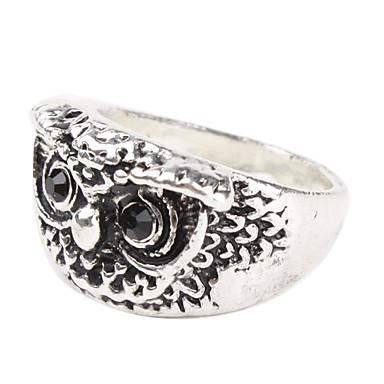 Owl Shape Sliver Plate Ring