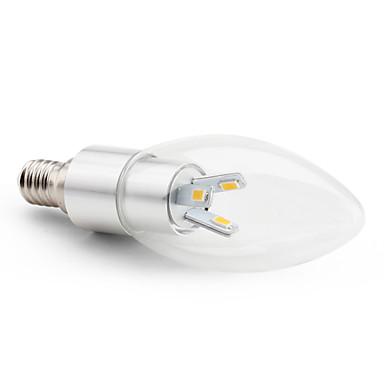 2800 lm E14 Luzes de LED em Vela C35 6 leds SMD 5630 Decorativa Branco Quente AC 220-240V