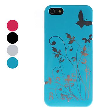 papillon et fleur cas dur de modèle pour l'iphone 5/5s (couleurs assorties)