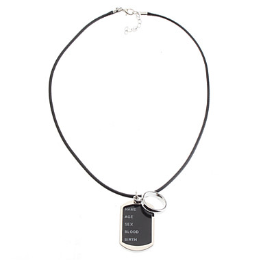 Ring Couple Picture Frame Necklace-Pictures Can Be Put