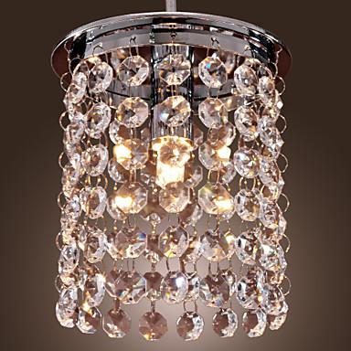 Mini Lumini pandantiv Lumină Spot Galvanizat Cristal, Stil Minimalist 110-120V / 220-240V Bec Inclus / G9