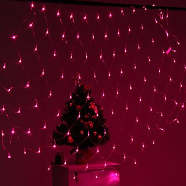 Parti bahçe çitleri için festivalin dekorasyon 120 önderliğindeki 8-mod pembe ışık net lambalar (220v)