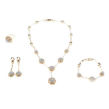 Kadın's Kristal Takı Seti - Kristal, Yapay Elmas Moda Dahil etmek Altın Uyumluluk Düğün / Yüzükler / Kolczyki / Kolyeler / Bilezik