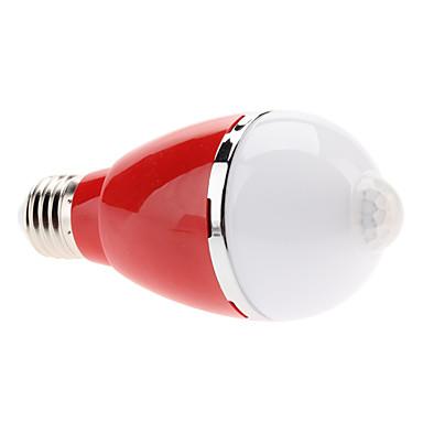 Lampadine globo 5 LED ad alta intesità E26/E27 5 W Sensore 460 LM Bianco caldo AC 100-240 V