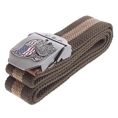 Stylish Canvas Belt with 3D USA Flag + Eagle Style Buckle