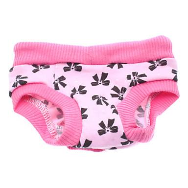 Köpek Pantolonlar Köpek Giyimi Fiyonk Düğüm Pembe Pamuk Kostüm Evcil hayvanlar için