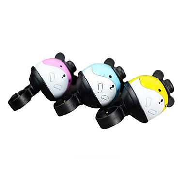Hamster Cartoon Style Aluminum Al Bicycle Bell (Yellow/Blue/Pink)