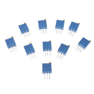 3296 Potentiometer 3-Pin 10kohm Adjustable Resistors (10 PCS,Blue)