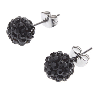 Diamond Ball Stainless Steel Earrings